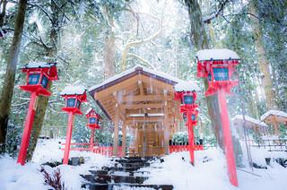 falling silently (Kifune shrine, Kyoto)