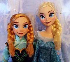 Concept Art Anna & Elsa (Lagoona89) Tags: anna art frozen doll disney concept walt elsa mattel repaint