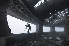 (Subversive Photography) Tags: mist fog decay nostalgia bulgaria urbanexploration soviet figure derelict crumbling urbex darktourism buzludzha danielbarter