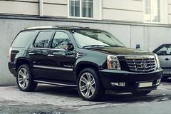 Cadillac Escalade (Luky Rych) Tags: city black car 50mm automotive cadillac slovakia escalade