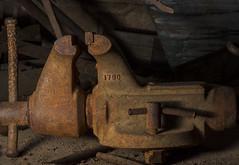 Old Rusty Mining Equipment In The Light (Bill Gracey) Tags: vacation arizona macro metal rust shadows decay wheels textures rusted softbox softlight sidelighting machineshop macrolens directionallight offcameraflash goldfieldghosttown lastoliteezbox yn560ii yongnuorf603n