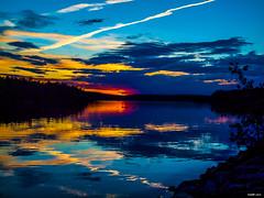 Kearney Lake Sunset (kenmojr) Tags: eve trees sunset lake canada water silhouette rural reflections evening spring novascotia seasons dusk seasonal atlantic east halifax maritimes kearneylake maritimeprovinces easterncanada atlanticprovinces kenmorris kenmo