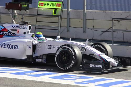 Felipe Massa in his Williams in Formula One Winter Testing 2015