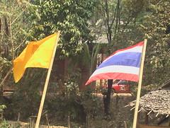 Thai and Royal Flags at Pang Tong Royal Residence