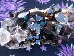~03-08-2015 CrYsTaLs #5~ (TravelsThruTheUniverse) Tags: smokeyquartz blackquartz crystalformation