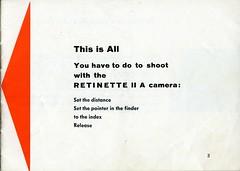 Kodak Retinette IIA - Instructions for use - Page 3 (TempusVolat) Tags: film 35mm vintage mr kodak instructions guide manual retinette tempus iia morodo retinetteiia volat mrmorodo garethwonfor tempusvolat