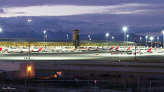 Terminal 4 at Madrid-Barajas Airport (birrlad) Tags: madrid night airplane photography airport spain ramp aircraft aviation airplanes terminal apron mad t4 taxiway madridbarajasairport