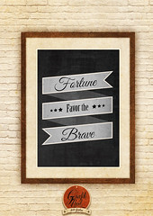 Fortune favor the brave (Molle William) Tags: illustration photoshop vintage typography design graphicdesign quote banner illustrator quotations grafikprod fortunefavorthebrave
