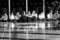 Waiting to Start- SurreyYouthOrchestra_024-3 (gks18) Tags: bw music musicians youth canon blackwhite waiting orchestra surreybc canon7d