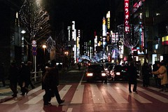 tokyo-1 (転倒虫) Tags: life street light sign japan night tokyo live daily 日本 東京 universal shinjyuku 道路 新宿 normally 生活 普通 夜 日常 ネオン サイン ネオンサイン 灯り