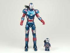 Mini-Me Iron Patriot (TheBrickMaestro) Tags: comics james iron lego super legends don heroes patriot marvel figures rhodes col hasbro minifigure cheadle