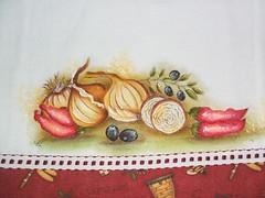 alho e pimenta 1 (LID ARTS) Tags: de em prato panos pintura tecido