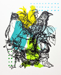 Bird Cluster (klt:works) Tags: birds print screenprint serigraph