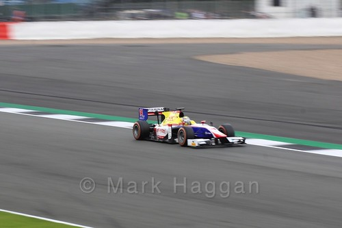 Philo Paz Armand in his Trident in GP2 Practice at the 2016 British Grand Prix