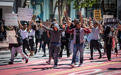 (seua_yai) Tags: sanfrancisco california street people urban usa america march downtown candid wheels protest thecity police bayarea northamerica blm lifeinthestreet blacklivesmatter sanfrancisco2016