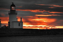 Lighting a Lighthouse (richbriggs28. Love being a grandad :)) Tags: richbriggs28 lighthouse chanonrypoint blackisle inverness morayfirth scotland sunrise
