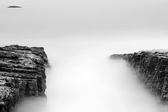 3 rocks panther beach (hbphototeach) Tags: approved panther beach santa cruz california bayarea pacific coast long exposue black white rocks landscape seascape minimal simplicity soft light quiet
