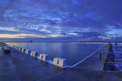 Dawn at Merewether Ocean Baths (NickFlanagan2300) Tags: ocean morning blue panorama beach pool swimming sunrise canon newcastle dawn seaside stitch australia swimmingpool baths nsw newsouthwales bluehour photostitch merewether merewetherbeach oceanpool beachpool oceanbaths merewetherbaths merewetheroceanbaths newcastlensw seasidepool canon6d canonaustralia