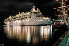 Nassau harbor lights (silberne.surfer) Tags: nassau uww fujixt1 wideangle xf14mmf28 nightshots lte carnevalfantasy florida bahamas fuji langzeitbelichtung carnevalcruise