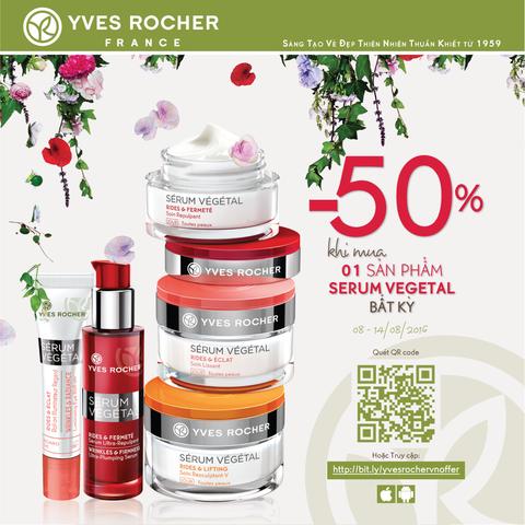 Summer Sale – Giảm giá 50% cho sản phẩm bất kì thuộc dòng Serum Vegetal