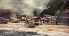 The Beach! ... by Niani (xxnianixx (...**aka Tijana**)) Tags: niani landscape secondlife photography virutal beach sea palm summer kokomo beachresort