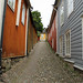 Old street and buildings in Porvoo Finland