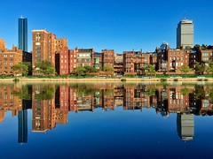 Boston Back Bay Brownstones Reflections ((Jessica)) Tags: pw reflection reflections esplanade water boston brownstones massachusetts symmetry backbay architecture newengland lagoon