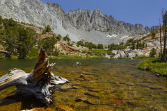 Chocolate Lake-Explored-thank you! (Laura Zirino) Tags: california ca lake mountains landscape landscapes backpacker bishop easternsierra cloudripper chocolatelake bishoppasstrail inconsolablerange eatenalivebymosquitoes