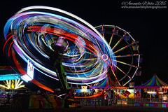 You spin me right round baby, right round (sminky_pinky100 (In and Out)) Tags: dartmouth halifax novascotia canada landscape nightphotography lights reflections colourful fairground rides big ferriswheel travel tourism omot cans2s