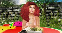 Watermelon Flowers pillow (Vamerya Vallejo) Tags: bueno xiasboutique sways izzies alaskametro yummy reign stardust kharma slink logo theskinnery ikon hellodave dustbunny takenbyvameryavallejo