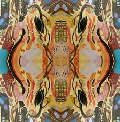 2016-07-21 symmetrical nude paintings 3 (april-mo) Tags: symmetry symmetrical painting modern contemporary art collage experimentaltechnique womanportrait portrait