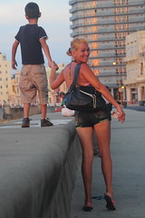 Walk us uptown (Couldn't Call It Unexpected) Tags: cuba havana malecon mother son smile happy