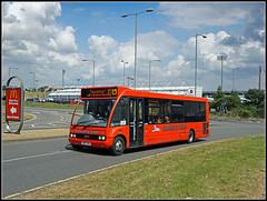 JUST TO MAKE ANDREW JEALOUS! (Jason 87030) Tags: countrylion cn04hol optare solo sixfields ntfc cobblers red bus northants northamptonshire family fun football soccer stadium transport 87 towcester