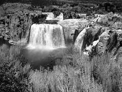 Shoshone Falls (SteveFromOhio) Tags: shoshonefalls waterfall snakeriver twinfalls idaho blackandwhite landscape scenery