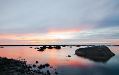 Sunset over Lake Mckeln (Jeanette Svensson) Tags: winner alt 0675 0586 sweden smland summer jeanettesvensson sunset mckelns badplats lake stones color sky cloud mirror smooth longexposure happy jeanettesvenssonphotography silent peaceful