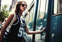 327/365 Drift (ewitsoe) Tags: woman tram button entrance exit door transit ewitsoe nikond80 35mm street streetlife life living summery hot warm fashion shoot girl younglady tanktop 365 daily person lady polska polishgirl poland europe eu