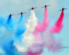 The Red Arrows. (Edward Dullard Photography. Kilkenny, Ireland.) Tags: redarrows royalairforce raf plane jet airshow bray ireland edwarddullardphotography kilkenny wicklow dublin vivid