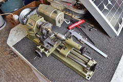 Nice Emco Unimat Mini Lathe circa 1970's, Quality made in Austria (pwllgwyngyll) Tags: unimat sl quality machine made in austria mini lathe circa 1970s hobbyist modelmaker brass cutting milling turning models chuck tailstock drilling minimodels minilathes drills cutters lathework metalwork lathes