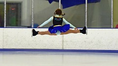 Wow... (R.A. Killmer) Tags: ice smile speed skate fast graceful girl teens talented performer blades costume skill fly