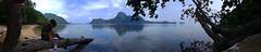 El Nido Beach (PacificKlaus) Tags: panorama topside philippines sky ocean palawan elnido