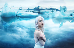 where the end begins (Kindra Nikole) Tags: iceland kindra nikole glacial glacier ice icy cold chilled water reflective mirror blue blues cool white hair climate change planet eco carl sagan