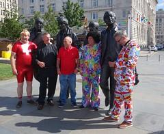 Beatles Men (Lydie's) Tags: liverpool thebeatles statue suits gaudy curlywig men vicar
