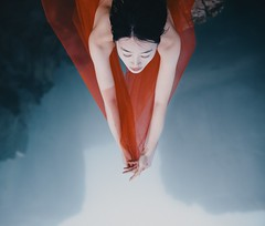 (Donatas Zazirskas) Tags: emotional foggy mountains china chinagirl blue red colors canon 35mm implied nude ignant worbz flickrfriday portrait