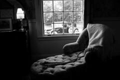 The wait ... / L'attente ... (CTfoto2013) Tags: livingmuseum stilllife lumiere light naturemorte interieur atmosphere ambiance mood dof depthoffield lumix gx7 panasonic mirrorlesscamera micro43 ombres shadows vermont hildene manchester bn nb bw indoor window fenetre blackandwhite monochrome chair car automobile voiture fauteuil couverture lamp lampe throw