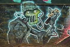 Robot Text (nigelphillips) Tags: graffiti streetart uk urban wolverhampton spraypaint