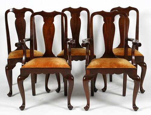 10 Henkel Harris Queen Anne Chairs ($1,176.00)