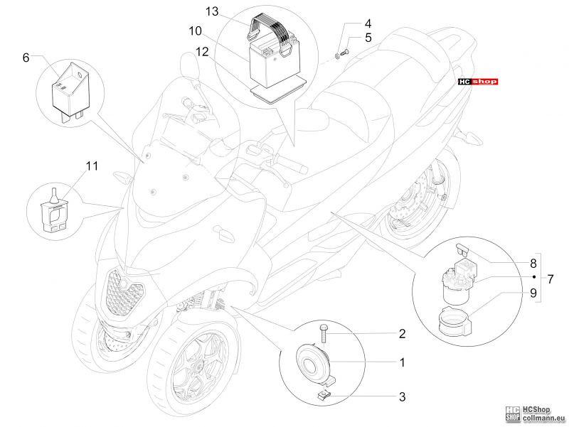 piaggio mp3 batterie  u2013 motorrad bild idee