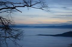 Hohe Wand (anuwintschalek) Tags: winter sunset mountain berg fog landscape austria evening abend december nebel niederösterreich naturpark talv 2014 udu hohewand õhtu hochnebel nebeldecke mägi d7k fogcarpet hämarik loojak nikond7000 kohlröslhaus uduvaip 18140vr