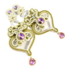 Wiktoria - ivory, złoto i fiolet (PiLLowDesign) Tags: bride jewellery bridal ślubna bizuteria slubna kolczyki biżuteria bridaljewelry slubne bridalearrings kolczykislubne biżuteriaślubna bizuteriaslubna kolczykiśłubne soutacheślubny sutaszślubny kolczykiślubne