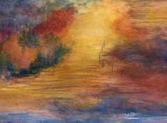 Walk into fall (KerKaya) Tags: autumn light art fall water colors painting aquarelle fz200 kerkaya